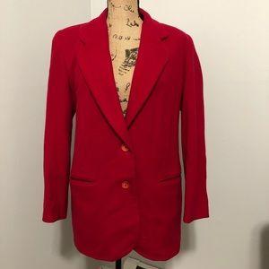 Vintage Wool Red Peacoat